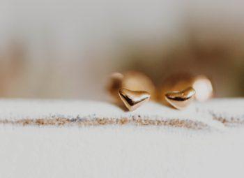 Herz Ohrstecker Gold