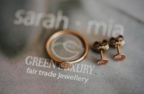 Fairtrade Verlobungsringe, Verlobungsring, Weißgoldring, Ansteckring, Zusteckring, grüngold,