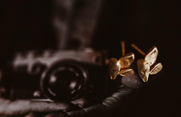 Ohrstecker, Fair Trade Gold, Grüngold, Ohrschmuck, Ohrstecker,
